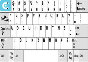 Keyboard DVORAK 1